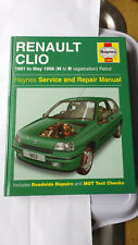 RENAULT CLIO WORKSHOP MANUAL HAYNES 1991 - MAY 1998 RT 16 VALVE RSi BACCARA