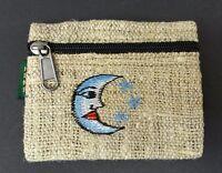 Hemp Coin Purse Blue Moon Natural Bag Pouch Credit Card ID Holder Wallet New