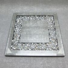 Formano Spiegel Untersetzer 20 x 20 cm Stones edel modern Kristall Brilliant