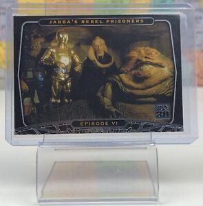 SHIPS SAME DAY 2007 Topps Star Wars 30th Anniversary #28 Jabba VI Card Foil