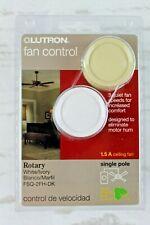 Lutron Rotary Ceiling Fan Control Single Pole Ivory or White Knob 1.5A Sealed