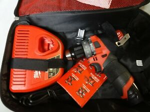 """Milwaukee 2504-20 M12 Fuel 1/2"""" Hammer Drill Driver 2.0AH Battery & charger"""