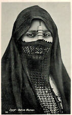 """Egypt,No.Africa.Egyptian Woman with Knitted Burqa,""""Native Woman"""",c.1909"""