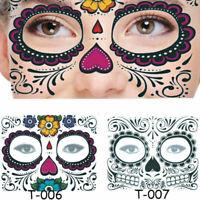 Temporary Tattoo Stickers Halloween Face Sticker Waterproof Art Makeup Decor