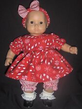 Christmas Candy Cane Dress Doll Clothes HandmadetoFit American Girl Bitty Baby