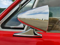 CLASSIC STYLE CHROME SPORT MIRRORS VINTAGE MUSCLECAR HOT ROD PAIR NEW