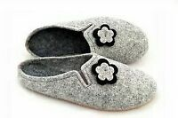 WOMEN LADIES 100% HANDMADE REAL NATURAL FELT SLIPPERS MULES SHOES ALL SIZES