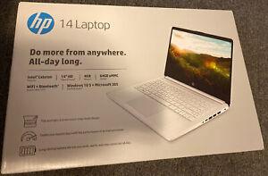 """🔥2021 HP Stream 14"""" HD Intel Celeron N4020/4GB/64GB/Win10s White 1yr Office365"""