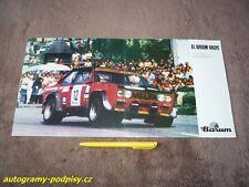 Franco CORRADIN/P. ZAMI - FIAT 131 Abarth (1981) Barum Rally mini poster 20,5x41