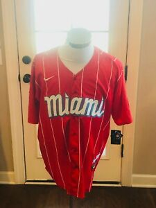 Miami Marlins 2021 City Connect Red Replica Player Jersey