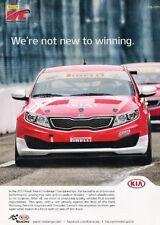 2012 Kia optima Race Pirelli - Original Advertisement Print Art Car Ad J894