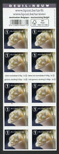 Belgium 2017 MNH Mourning Bereavement 10v S/A Booklet Roses Flowers Stamps