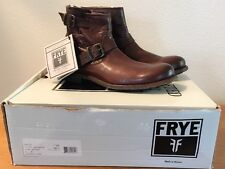 Frye Tyler Engineer Leather Boots Dark Brown Men's Size 8 Motorcycle Boots