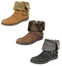 Botas de mujer botines de piel color principal negro
