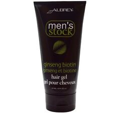 Aubrey Organics - Men's Stock, Hair Gel, Ginseng Biotin, 6 fl oz (177 ml)