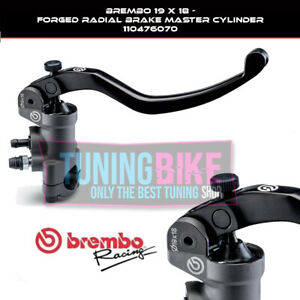 BREMBO RADIAL BRAKE MASTER CYLINDER 19X18 RACING FORGED FOR KAWASAKI Z900 RS CAF