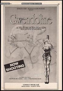 PERILS of GWENDOLINE / LAND of YIK YAK__Orig. 1982 Trade AD / ADVERT_John Willie