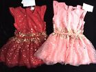 BNWT Girls PUMPKIN PATCH Red Pink Sparkly Sequin Tulle Party Dress Wedding Xmas