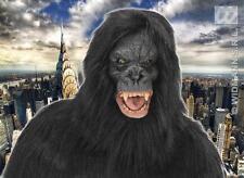 Black Hairy King Kong Mask Gorilla Monkey Ape Halloween Fancy Dress