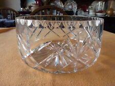 Amazing Large Crystal Glass Fruit Bowl