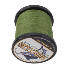 1000M 1094Yds 50LB Test Army Green Hercules PE Braid Fishing Line 4 Strands Worm