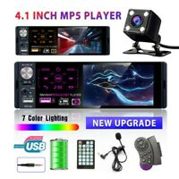"4.1"" Inch Car Stereo Radio RDS FM MP5 Touch Screen Bluetooth Radio 1DIN &Camera"