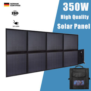 12V 350W Folding Solar Panel Blanket Flexible Solar Mat Kit Mono Camping Charger