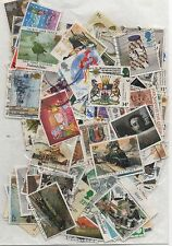 GB 1985-1988 packet of 135 + different used stamps many complete sets few gaps