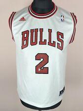 Michael Jordan #2 Chicago Bulls 2012 ADIDAS Basketball Jersey Boys Size L 14-16Y