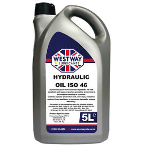 Hydraulic Oil 46 Fluid 5L VG46 Westway High Grade 5 Litres ISO 46 DIN 51524