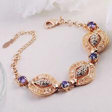 Beautiful 22k Dubai Gold with purple amethyst stone bracelet