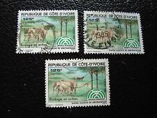 COTE D IVOIRE - timbre yvert/tellier n° 669 x3 obl (A28) stamp