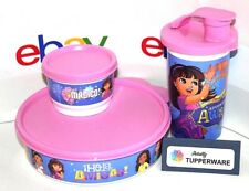 Tupperware Lunch Set Dora and Friends Tumbler, Big Wonders Bowl and Snack Cup