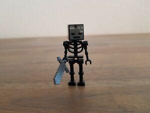 Lego Minecraft Figur Witherskelett mit Schwert