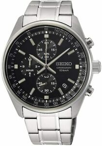 Seiko Men's Chronograph Watch with Stainless Steel Strap SSB379P1