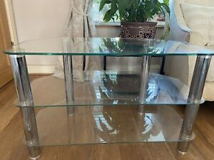 Clear Glass Table  Chrome/Silver Legs