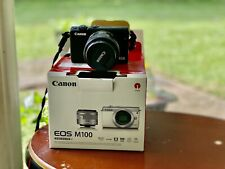 Canon EOS M100 24.2MP Digital Camera - Black (Kit w/ EF-M IS STM 15-45mm Lens)