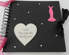 "Prom Night Celebration   personalised photo album scrapbook 8x8"" black"