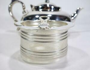 ART DECO ROBUR CHALLENGE PERFECT SILVER PLATE LARGE 6 CUP TEAPOT & INFUSER