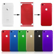 Color Film Wrap Decal Skin Case Sticker PVC Back Cover For iPhone X 6 7 8 Plus