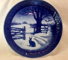 Royal Copenhagan Blue Hare In Winter 1971 Collectable Plate