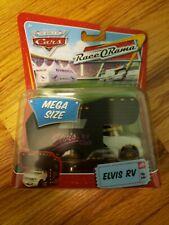 RARE Disney Pixar The World of Cars Mega Size Race O Rama Elvis RV #9 Figure Toy