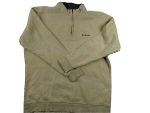 Vintage Columbia 1/4 Zip Size XL Ivory Pullover Sweatshirt Jumper Jacket