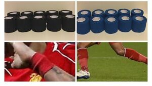 12 Rolls - Sock Tape ( football, equine, rugby, sports, physio) cohesive bandage