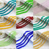 Rondelle Faceted Crystal Glass Loose Spacer Beads Crafts Charms 4mm/6mm/8mm/10mm