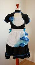 Maid-Kleid, Orchidee, schwarz, blau, Kostüm