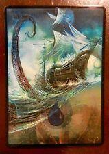 Magic the Gathering Basic Land MTG altered art Kraken Island