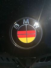 GERMAN GERMANY DEUTSCH FLAG BMW EMBLEM OVERLAYS STICKERS - FITS EVERY BMW MODEL!