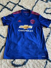 Men's Manchester United Adidas Soccer Jersey Size Large Chevrolet Blue Red