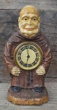New ListingAntique Lux Figural Clock - Friar